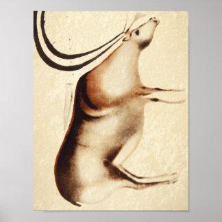 Grazing Reindeer', Font-de-Gaume_Art of Antiquity Poster