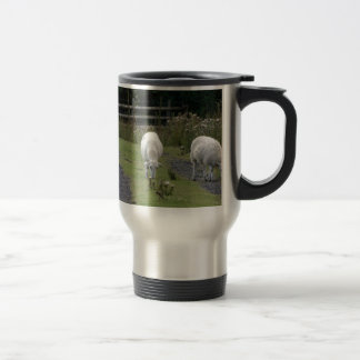 Grazing Welsh Sheep Travel Mug