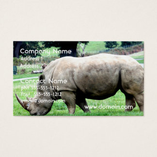 Grazing White Rhino Business Cards