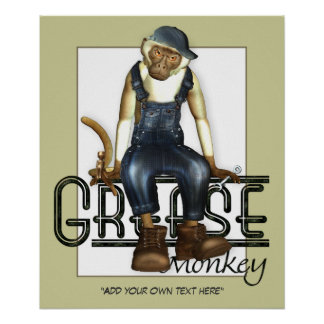 Grease Monkey Customizable Poster