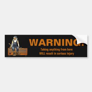 Grease Monkey Customized Toolbox Sticker (Orange) Bumper Sticker