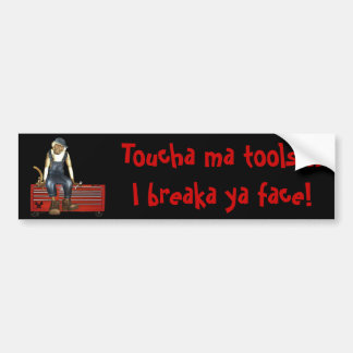 Grease Monkey Customized Toolbox Sticker Red Bumper Sticker
