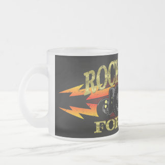 Greaser Rockabilly Hot Rod Frosted Glass Coffee Mug