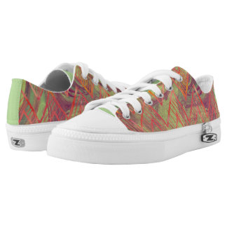 Great Abstract Design Pink, Purple, Mint Green Low-Top Sneakers