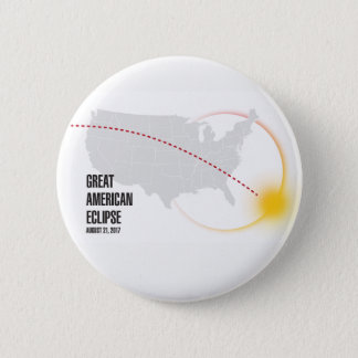 Great American Solar Eclipse 2017 2 Inch Round Button