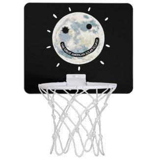Great American Solar Eclipse Moon Emoji Mini Basketball Hoop