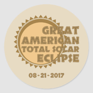Great American Total Solar Eclipse - 2017 Classic Round Sticker