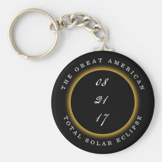 Great American Total Solar Eclipse 2017 Keychain