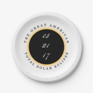 Great American Total Solar Eclipse 2017 Paper Plate