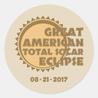 Great American Total Solar Eclipse - 2017 Round Sticker