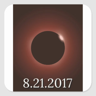 Great American Total Solar Eclipse 2017 Square Sticker