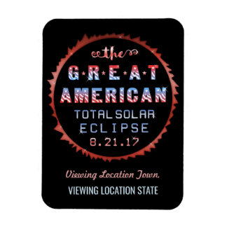Great American Total Solar Eclipse August 21 2017 Rectangular Photo Magnet
