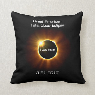 Great American Total Solar Eclipse - Cotton Pillow