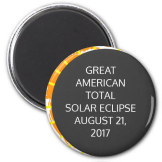 Great American Total Solar Eclipse customizable Magnet