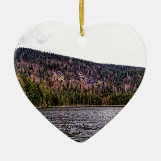 Great Arbersee in Bavaria Ceramic Heart Ornament