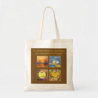Great Artist Happy Faces Tote Bag