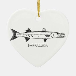 Great Barracuda Logo Ceramic Ornament