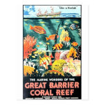 Great barrier coral reef postcard