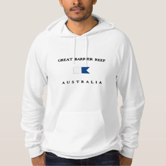 Great Barrier Reef Australia Alpha Dive Flag Hoodie