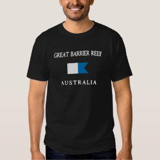 Great Barrier Reef Australia Alpha Dive Flag Tee Shirts