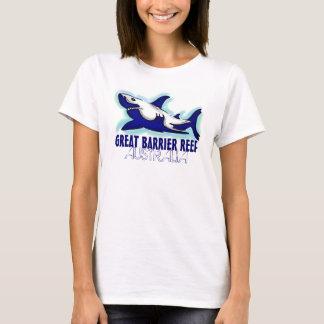 Great Barrier Reef Australia blue shark ladies tee
