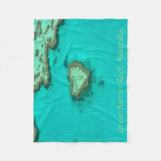 Great Barrier Reef, Australia heart coral Fleece Blanket