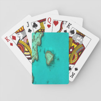 Great Barrier Reef, Australia heart coral Playing Cards