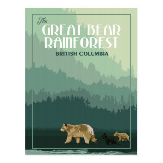 Great Bear Rainforest - Vintage Travel Postcard