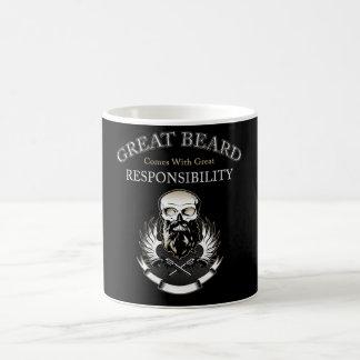 GREAT BEARD Comes With GREAT RESPONSIBILITY Coffee Mug