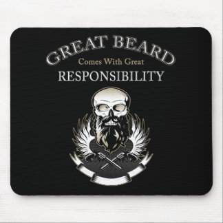 GREAT BEARD Comes With GREAT RESPONSIBILITY Mouse Pad