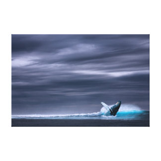 Great Big Ocean & Whale | Canvas Print