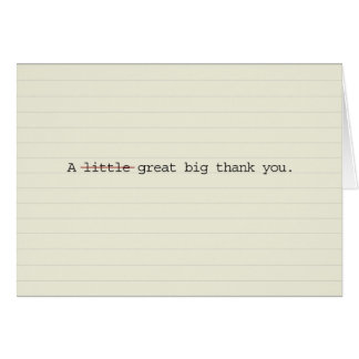 Great big thank you cards