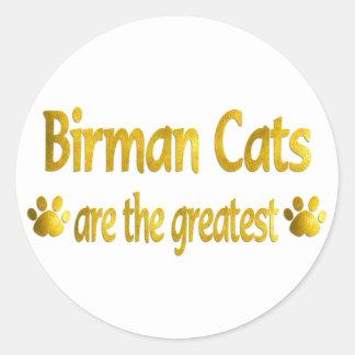 Great Birman Classic Round Sticker