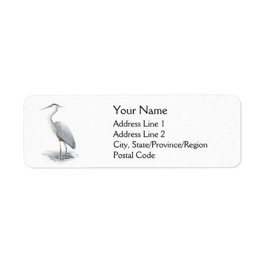 Great Blue Heron Address Labels