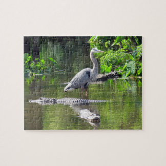 Great Blue Heron and Alligators Puzzle