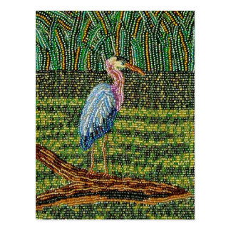 Great Blue Heron Beaded Print Postcards