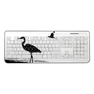 Great Blue Heron Bird Animal Wireless Keyboard
