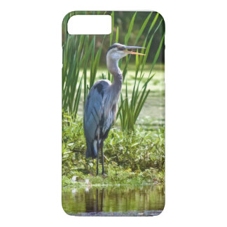 Great Blue Heron Bird at the Pond iPhone 7 Plus Case