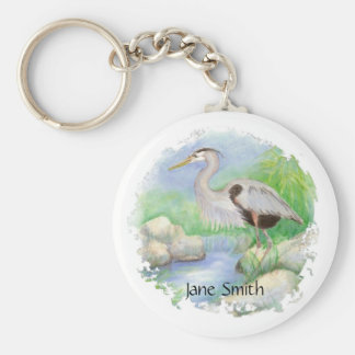 Great Blue Heron Bird Nature Keychain
