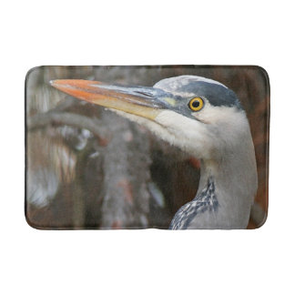 Great Blue Heron Bird Wildlife Animal Bath Mat