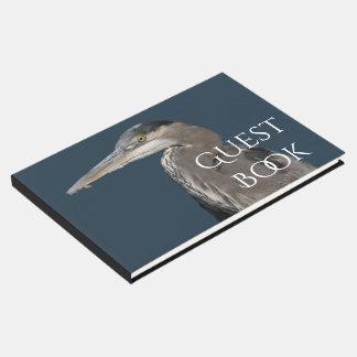 Great Blue Heron Bird Wildlife Animal Guest Book
