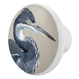 Great Blue Heron Bird Wildlife Animal Knob