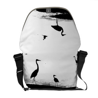 Great Blue Heron Bird Wildlife Animals Messenger Bags