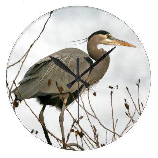 Great Blue Heron Bird Wildlife Wall Clock