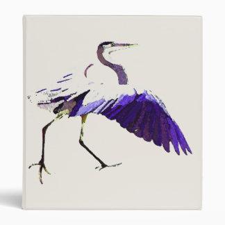 Great Blue Heron Birds Wildlife Animals Binder