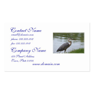 Great Blue Heron Business Card Template