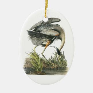 Great Blue Heron by Audubon Ceramic Ornament