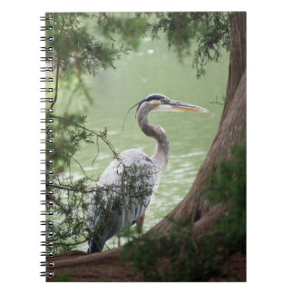 Great Blue Heron By The Bank Notebook