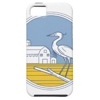 Great Blue Heron Farm Barn Circle Retro iPhone 5 Cover