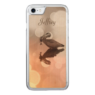Great Blue Heron -Fisherman's Sunrise Carved iPhone 8/7 Case